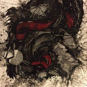 Peinture Serge Lefox turbulance SMC GALLERY